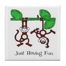 Just Have Fun Tile Coaster