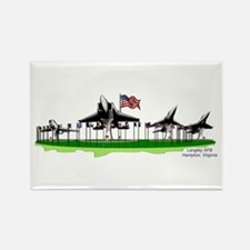 """""""Planes on a Stick"""" Langley AFB - Rectangle Magnet"""
