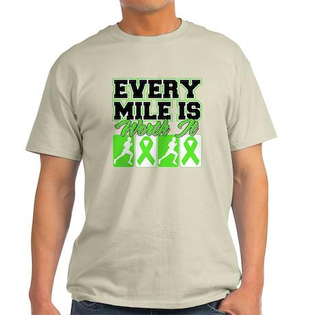 Every Mile Worth Lymphoma Light T-Shirt