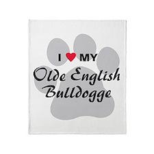 Olde English Bulldogge Throw Blanket
