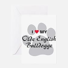 Olde English Bulldogge Greeting Card