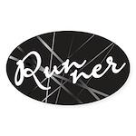 Abstract Runner Sticker (Oval 10 pk)