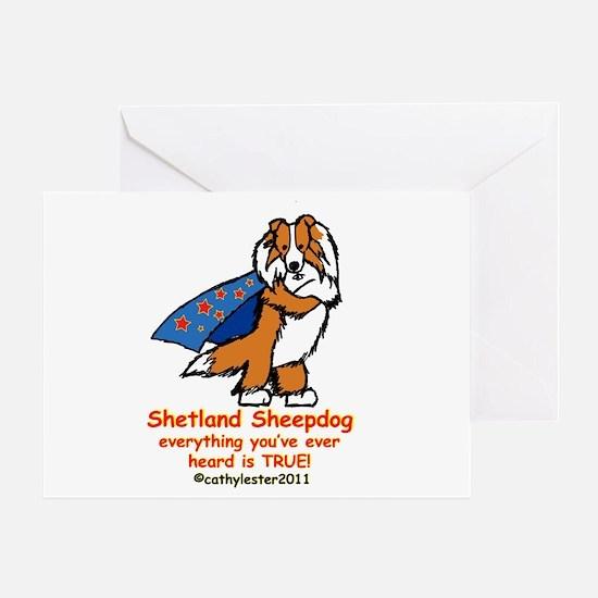 Sable Super Sheltie Greeting Card