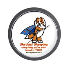 Sable Super Sheltie Wall Clock