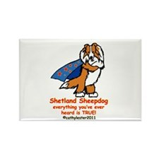 Sable Super Sheltie Rectangle Magnet