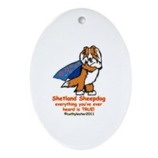 Sable Super Sheltie Ornament (Oval)