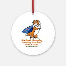 Sable Super Sheltie Ornament (Round)