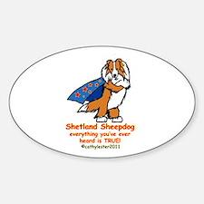Sable Super Sheltie Sticker (Oval)