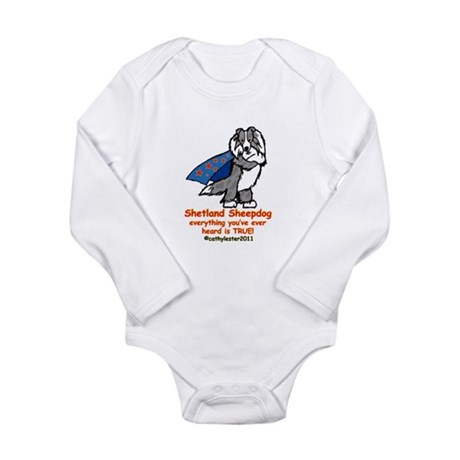 Merle Super Sheltie Long Sleeve Infant Bodysuit