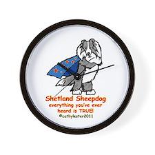Merle Super Sheltie Wall Clock