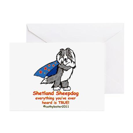 Merle Super Sheltie Greeting Cards (Pk of 20)