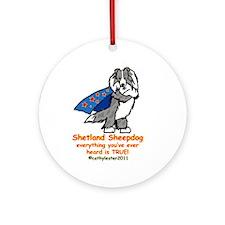 Merle Super Sheltie Ornament (Round)