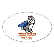 Merle Super Sheltie Decal