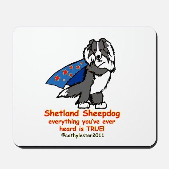 Black Super Sheltie Mousepad