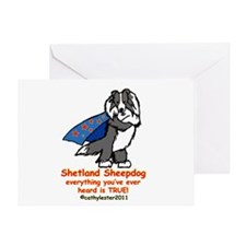 Black Super Sheltie Greeting Card