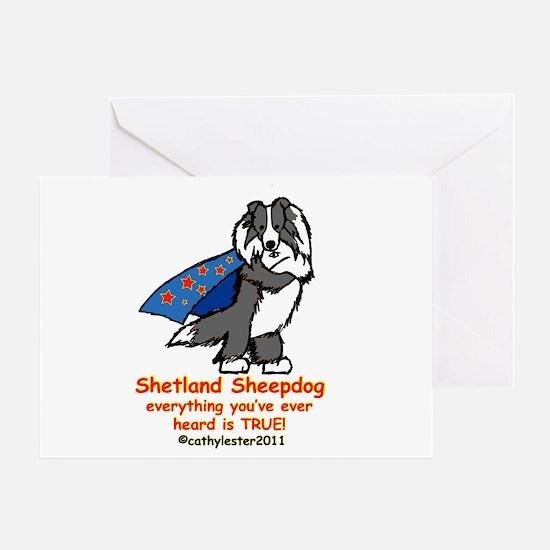 Black Super Sheltie Greeting Card