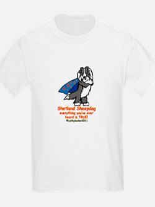 Black Super Sheltie T-Shirt