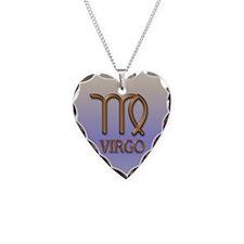 Virgo Necklace, Heart Charm