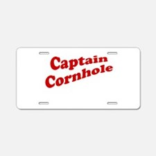 Captain Cornhole Aluminum License Plate