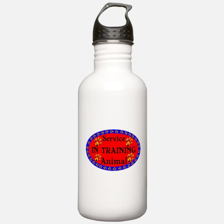 Service Animal In Training RB Water Bottle