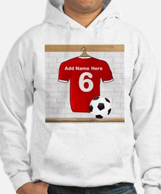 Red Customizable Soccer footb Hoodie