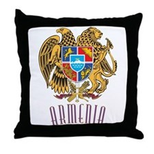 Armenian Coat of Arms Throw Pillow