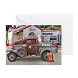 Rat rod christmas Greeting Cards (10 Pack)