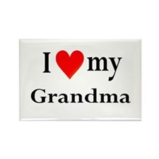 I Love My Grandma: Rectangle Magnet