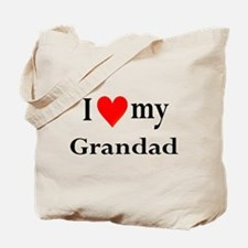 I Love My Grandad: Tote Bag