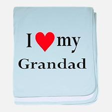 I Love My Grandad: baby blanket