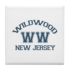 Wildwood NJ - Varsity Design Tile Coaster