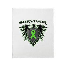 Survivor Wings Lymphoma Throw Blanket