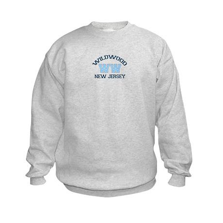 Wildwood NJ - Varsity Design Kids Sweatshirt