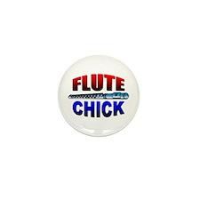 Flute Chick Mini Button (10 pack)