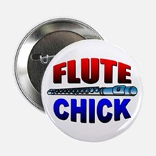 "Flute Chick 2.25"" Button (10 pack)"