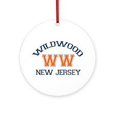 Wildwood NJ - Varsity Design Ornament (Round)