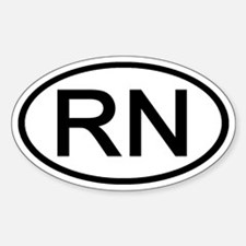 RN - Initial Oval Oval Decal