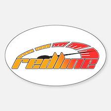 Redline Tach Sticker (Oval)