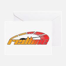 Redline Tach Greeting Card