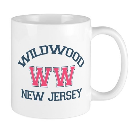 Wildwood NJ - Varsity Design Mug