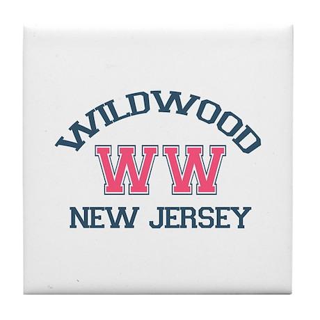 Wildwood NJ - Varsity Design Tile Coaster