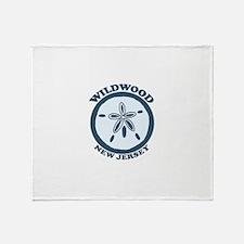Wildwood NJ - Sand Dollar Design Throw Blanket