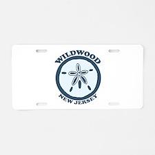 Wildwood NJ - Sand Dollar Design Aluminum License