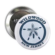 """Wildwood NJ - Sand Dollar Design 2.25"""" Button"""