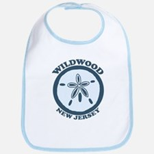 Wildwood NJ - Sand Dollar Design Bib
