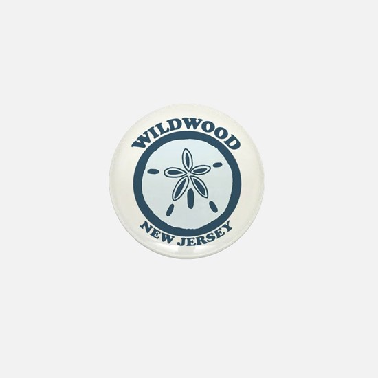 Wildwood NJ - Sand Dollar Design Mini Button