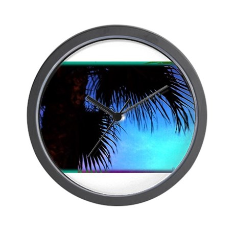 Moonlit Palm Wall Clock