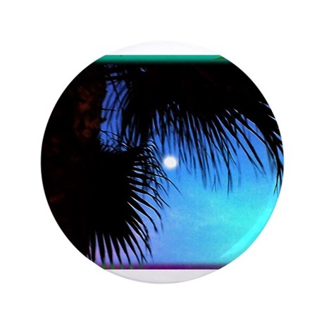 "Moonlit Palm 3.5"" Button"