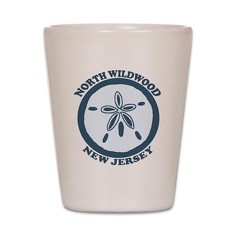 Wildwood NJ - Sand Dollar Design Shot Glass