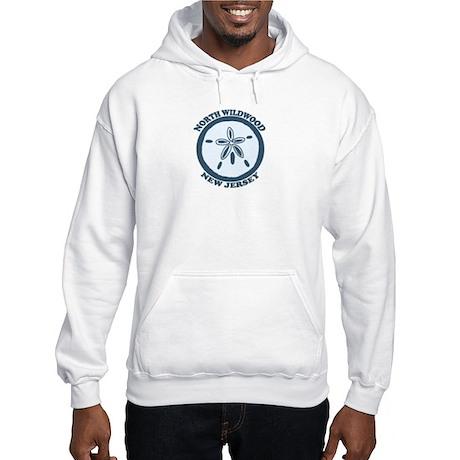 Wildwood NJ - Sand Dollar Design Hooded Sweatshirt